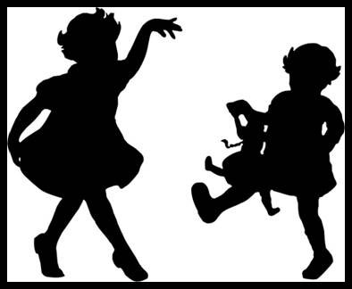 De Waal Art Vintage Kids Collection - Girls dancing