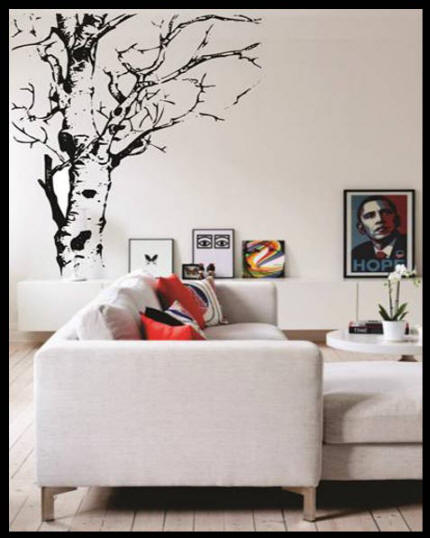 De Waal Art Tree Time Vinyl Art